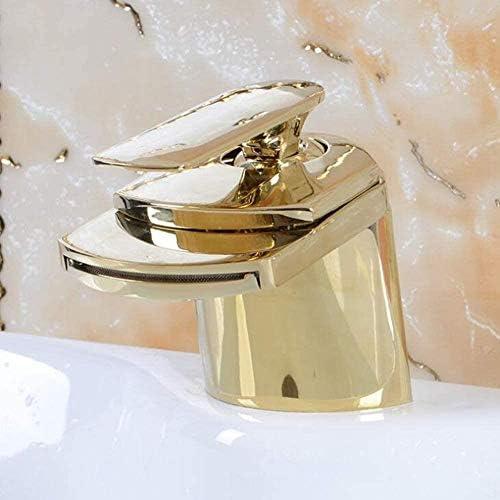 ボカアンチャ黄金の滝流域のシンクの蛇口古いヨーロッパのレトロ銅冷温水はバスルームのシンクの蛇口、ゴールド流域ミキサータップをタップ