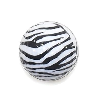 Golf Balls, Nitro Novelty Zebra, 3 Pack, White