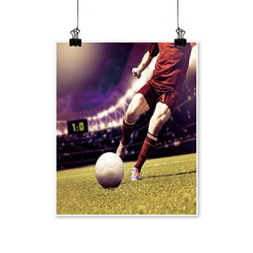 - Artwork for Home Decorations Soccer or Football Player Running on The Field Home Decor Wall Art,24