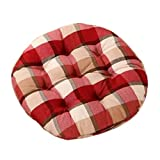 Country Style Home/Office Round Chair Cushion Floor Cushion Pillow Seat Pad, No.8