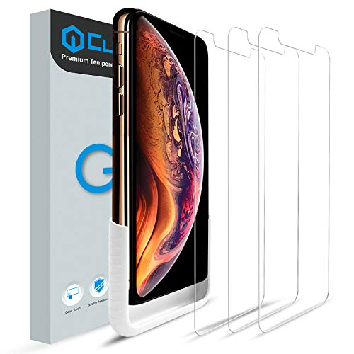 Cubevit iPhone Xs Screen Protector, [3 Pack] iPhone Xs Tempered Glass Screen Protector, Easy Installation/Bubble-Free/Premium HD Glass Screen Protector for Apple iPhone Xs (Transparent)