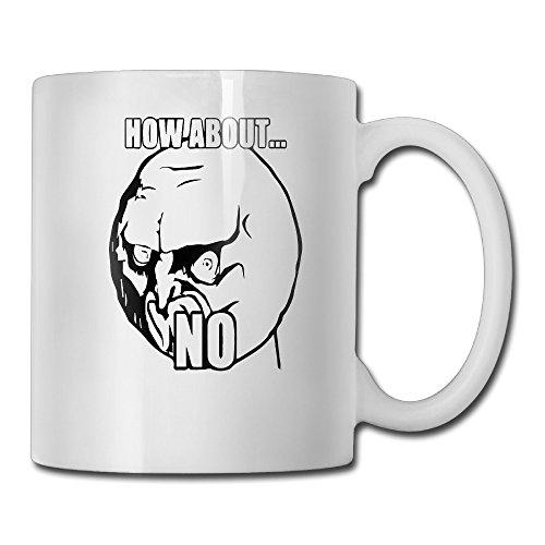 MUGMAN How About No Ceramic Tea Cup 11oz,White