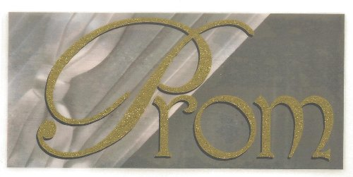 Prom Too Gold Glitter Rub-Ons for Scrapbooking (966)