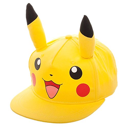Bioworld Pokemon Pikachu with 3D Ears Youth Hat Yellow]()