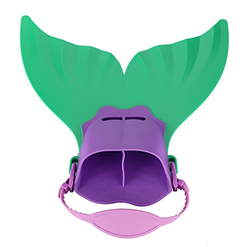 Swim Fins Adjustable Mermaid Tail Monofin With 3 Color For Children Swimming Girls Boys (Tail Swim Fin)