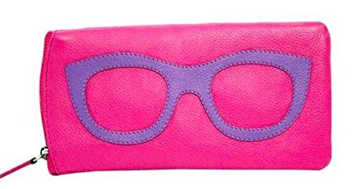 ili New York 6462 Leather Eyeglass Case (Hot Pink/Amethyst) by ili New York