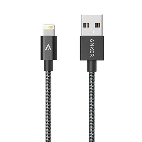 Anker 3ft Nylon Braided USB Cable with Lightning Connector [Apple MFi Certified]...