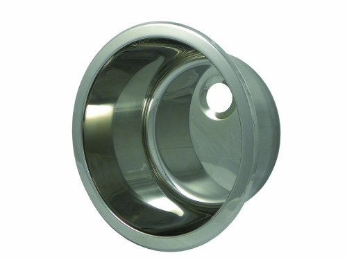 - Opella 14127.045 Round Lavatory Sink, Polished Stainless Steel