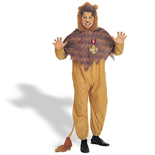 [Warner Bros. Men's The Wizard of Oz Cowardly Lion Plus Size Costume Plus Size] (Cowardly Lion Costumes For Adults)