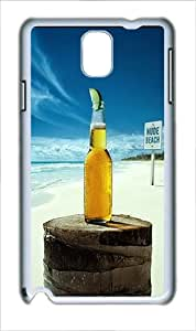 Samsung Galaxy Note 3 Case and Cover - Nude Beach Corona Custom PC Hard Case Cover for Samsung Galaxy Note 3 / N9000 White