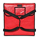 New Star 50073 Insulated Pizza Delivery Bag, 18 by 18 by 5-Inch, Red