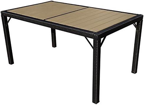 Mendler Table de Jardin Ariana polyrotin, WPC Bois ...