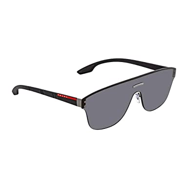 9afe6cc47c76 Prada Linea Rossa Men s 0PS 57TS Gunmetal Black Rubber Dark Grey One Size