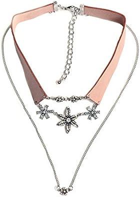 Haye necklace Collar Regalos de cumpleaños Moderno Collar de Flores de Piedras Preciosas con Incrustaciones de Diamantes.
