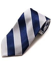 College Striped Colored 100% Silk X-Long Neck Tie