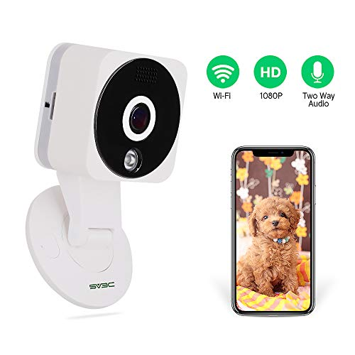 (Nanny Camera, SV3C 1080P Wireless IP Camera WiFi HD Home Security Monitoring Systems, 180 Degree Panoramic View Angle Nanny Cam with Motion Detection, Night Vision, Two-Way Audio for Baby/Elder/Pet)