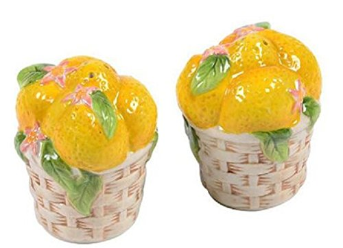 (Temp-tations Fruit Salt & Pepper Shakers Set (Lemon))