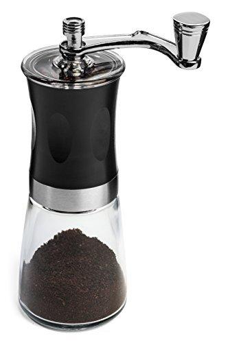 IdylcHomes Kona Coffee Grinder Delgado ~ Mejor cónico Burr Mini Mill con manual sin esfuerzo Crank