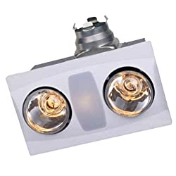 Aero Pure 2-Bulb Quiet Bathroom Heater Fan with Light, A515A S-p