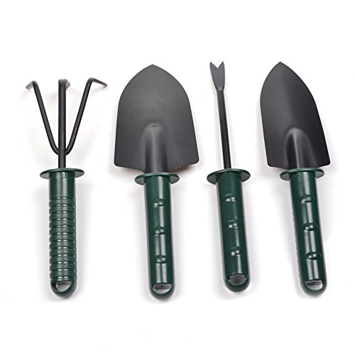 KLOUD-City-4-Piece-Garden-Tool-Set-Two-Different-TrowelTwo-Different-Rake
