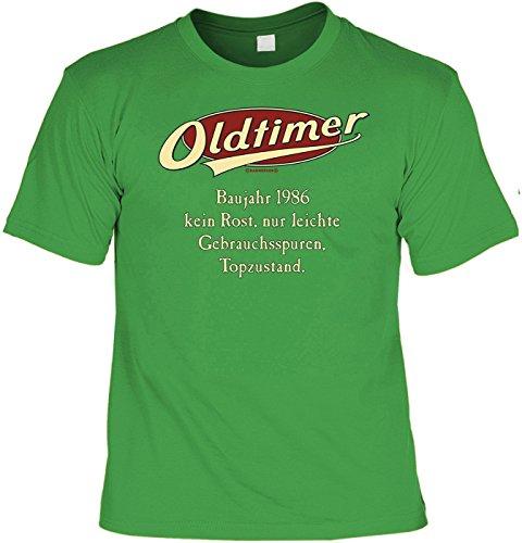 T-Shirt - Oldtimer Baujahr 1986 Grün - lustiges Sprüche Shirt als Geschenk zum 31. Geburtstag