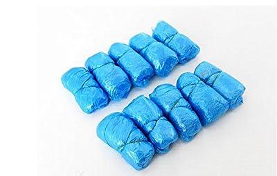 RYS Disposable Shoe Covers non slip 100 Piece, Blue