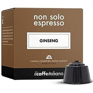 FoodNess - 60 Capsule Caffè al Ginseng Compatibili Dolce Gusto (6 Box da 10 Capsule) Senza Lattosio e Glutine