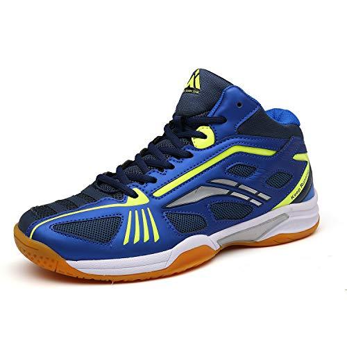 Mens Tennis Sports Shoes Non-Slip Court Badminton Squash Training Running Sneakers Blue