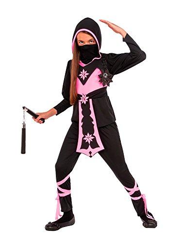 Rubies Child's Pink Crystal Ninja Costume, Large, Multicolor -