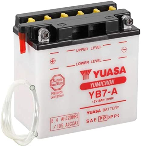 Motorrad Batterie Yuasa Yb7 A 12v 8ah Maße 137x76x135 Auto