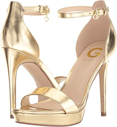 G by GUESS Women's Jreamin Oro 10 M US (Sandals Guess Strap Ankle)