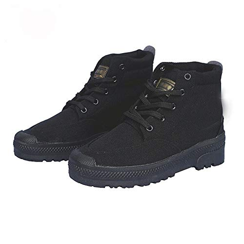 Rcnrycasual scarpe di tela camouflage, per allenamento, resistente all' usura e antiscivolo, alta Labor assicurazione gomma scarpe da uomo, C,45