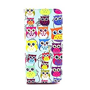 SHOUJIKE Various Owls Pattern PU Leather Full Body Case for iPhone 5C