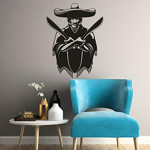 HNXDP bandido mexicano con etiqueta de pared de vinilo ...