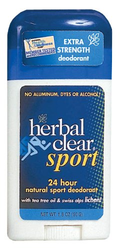 Herbal Clear Sport 24 Hour Natural Sport Deodorant with Tea Tree Oil and Swiss Alps Lichen, 1.8 Ounce (Pack of 3) by Herbal Clear (Image #1)'
