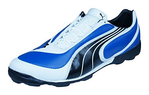 Puma V3.08 TT Mens Leather Astro Turf Soccer Sneakers-Blue-9.5