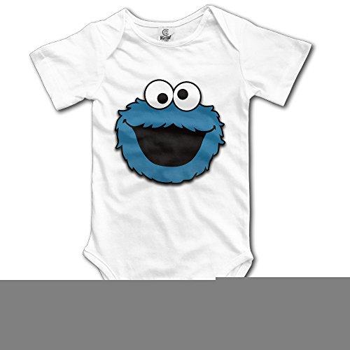 Cookie Monster Smile Baby Onesie -