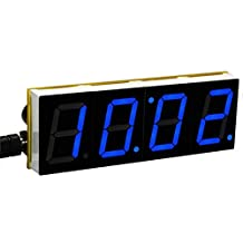 SODIAL(R) DIY Digital LED Large Screen Display Clock kit Blue