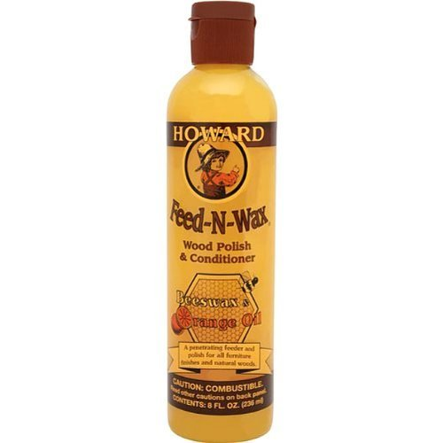 SET of 4 8oz Howard Feed-N-Wax Wood Polish & Conditioner w/ Beeswax & Orange Oil by Howard