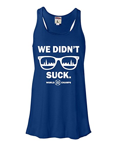 X-Large Royal Womens We Didn't Suck World Champs Chicago Flowy Racerback Tank Top T-Shirt