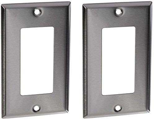 Morris 83110 430 Wall Plate, Decorative GFCI, 1 Gang, Stainless Steel (2 Pack)