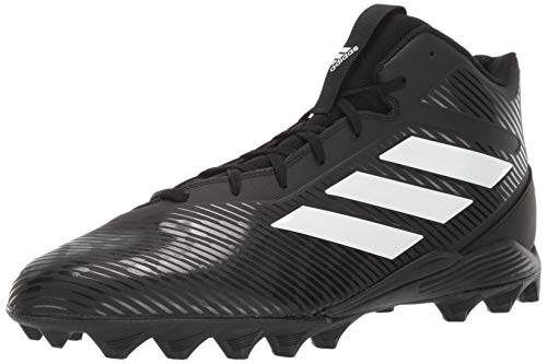adidas Men's Freak Mid MD Football Shoe, Black/White/Grey, 12.5 M US