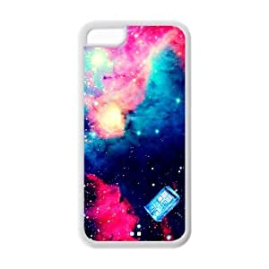 lintao diy Hipster Doctor Who Galaxy Space Universe Apple Iphone 5C Case Cover TPU Watercolor Tardis