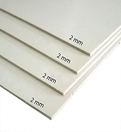 designers den sunboard 2 mm thickness( NOT a Foam Board)-for  mounting,casting patterns,painting, aero-modellers,architectural  models-pack of 4