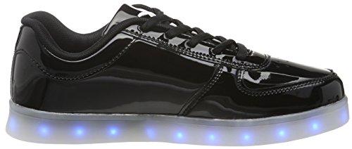 Pop 2 wize Sneaker Black LED amp; Unisex Basse ope Adulto Nero qpgptrcvWx