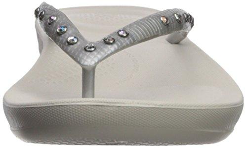Fitflop Femmes Iqushion Ergonomique Tongs-cristal Diapositive Sandale Argent