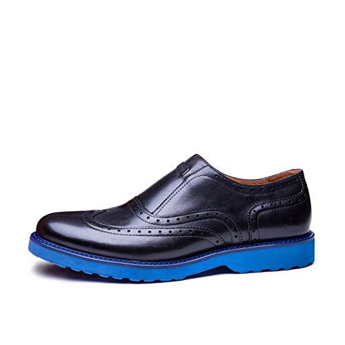 Hombres color Zhuxin Ligeros Zapatos Black eu Brock Para Size Black Cuero Cómodos De Oxford Hombres Casuales 38 HvH4P