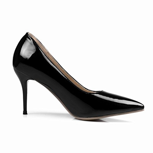 Mee Shoes Women's Chic Stiletto High Heel Pointed Toe Slip On Court Shoes Black oN2Ilt