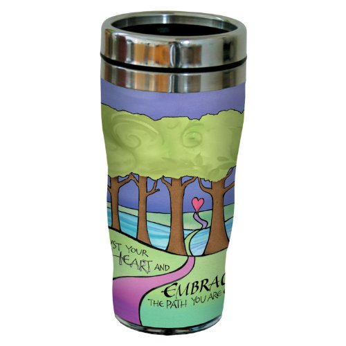 Tree-Free Greetings sg23964 Embrace The Path by Joanne Fink Sip 'N Go Stainless Steel Lined Travel Tumbler, 16-Ounce