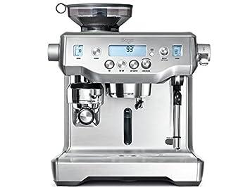 Sage Appliances - Máquina de café espresso, acero inoxidable cepillado Tampern und Milchschaum automatisch Brusched Steel: Amazon.es: Hogar